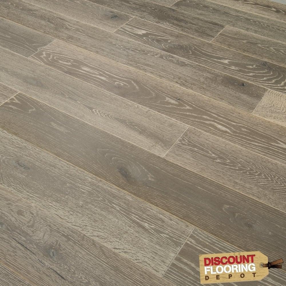 Timeless 18mm Engineered Flooring Oak Smokey Grey Brushed And