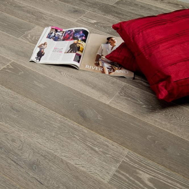 Timeless Engineered Flooring 18/5mm x 150mm Oak Smokey Grey Brushed and Lacquered 1.98m2