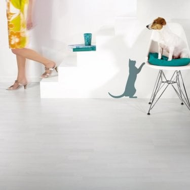 Urban - 7mm Laminate Flooring - Polar White 3-Strip