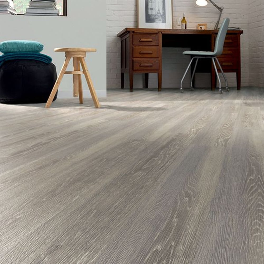 Laminate Flooring Moisture Barrier Concrete Patio Deck Flooring: Windermere Grey Oak 8mm V-Groove AC3 1.91m2