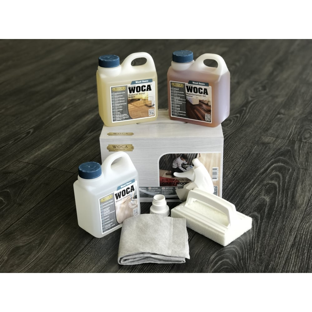 Woca Maintenance Kit For Oiled Floors Accessories From