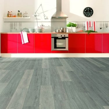 Wood Step 8mm Laminate Flooring - Grey Silver Oak