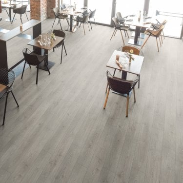 Wood Step - 8mm Laminate Flooring - Shadow Grey