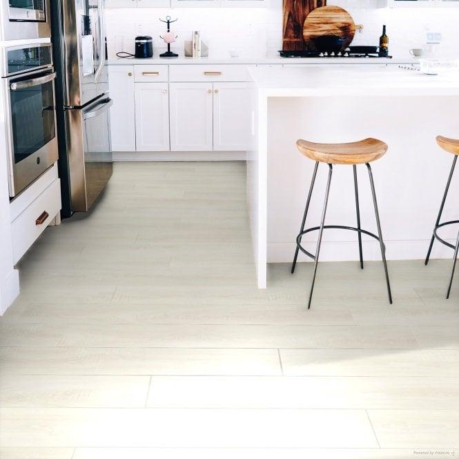 Wood Step - 8mm Laminate Flooring - Snow White Oak
