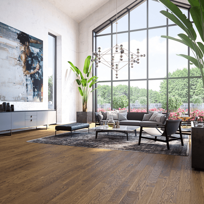Woodland Click - 14mm x 130mm Engineered Wood Flooring - Cognac Matt Lacquered
