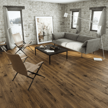 Woodland Click - 14mm x 130mm Engineered Wood Flooring - Country Walnut Lacquered